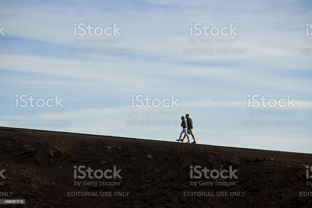 Couple on a Walk royalty-free stock photo