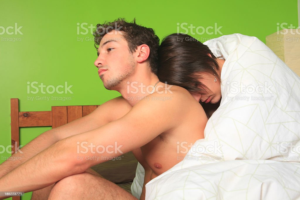 Couple on Bed - Real Life royalty-free stock photo