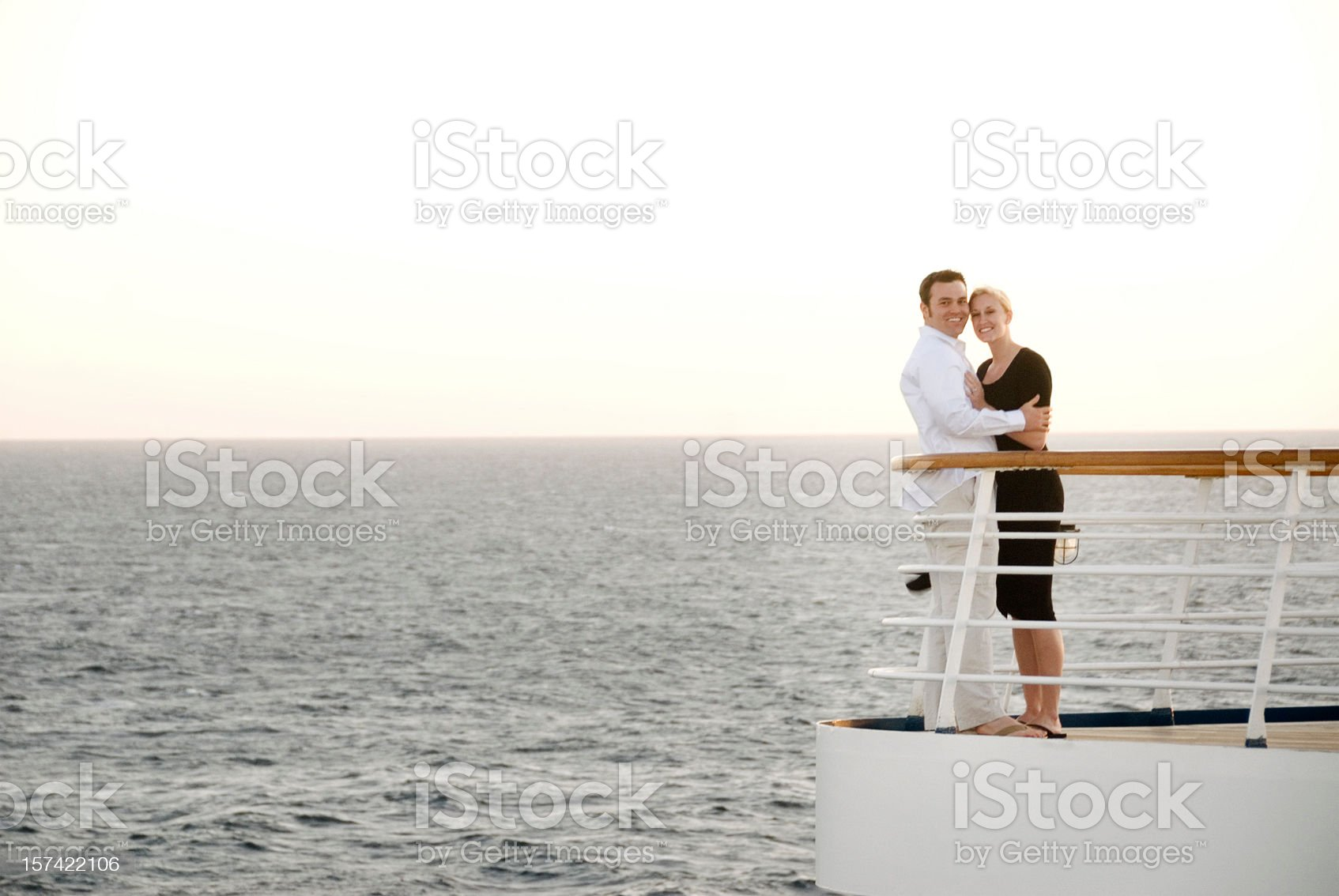 Couple on cruise ship royalty-free stock photo