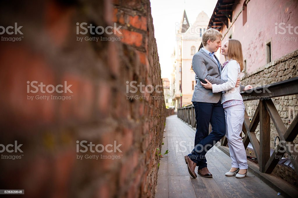 couple on dating stock photo