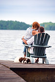 Couple on Dock Loving Moment