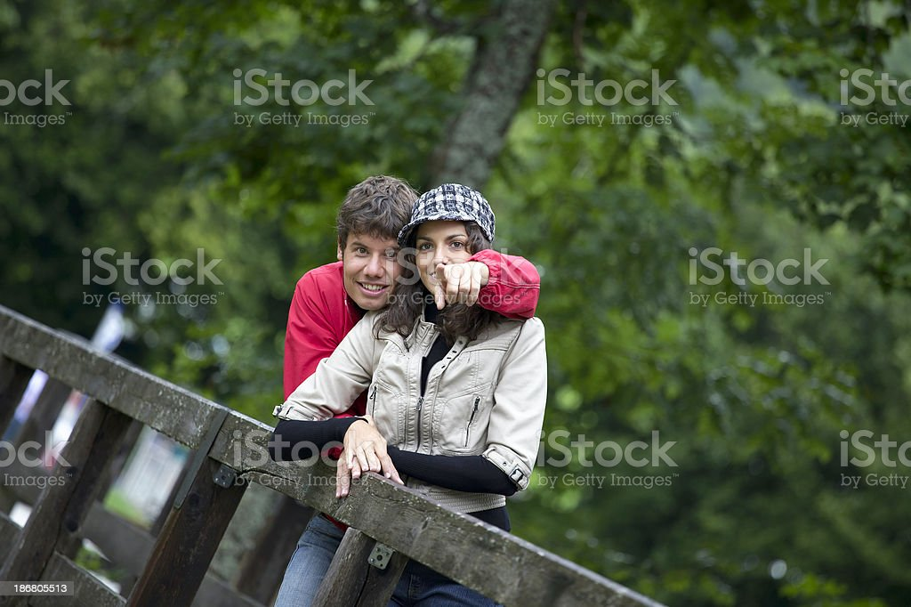 couple on holiday exploring nature in austria stock photo