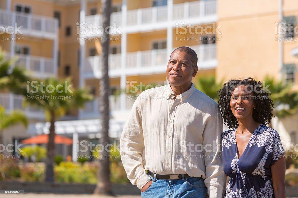 Couple on Holidays stock photo