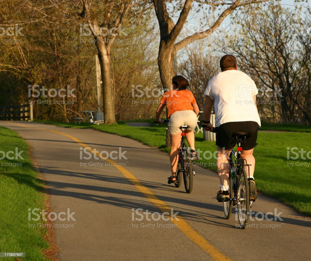 Couple on Losing Weight Ride royalty-free stock photo
