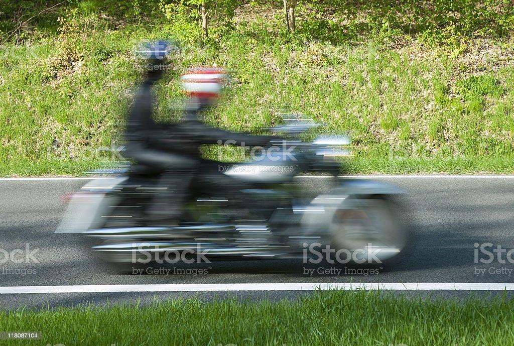 Couple on Motorbike royalty-free stock photo