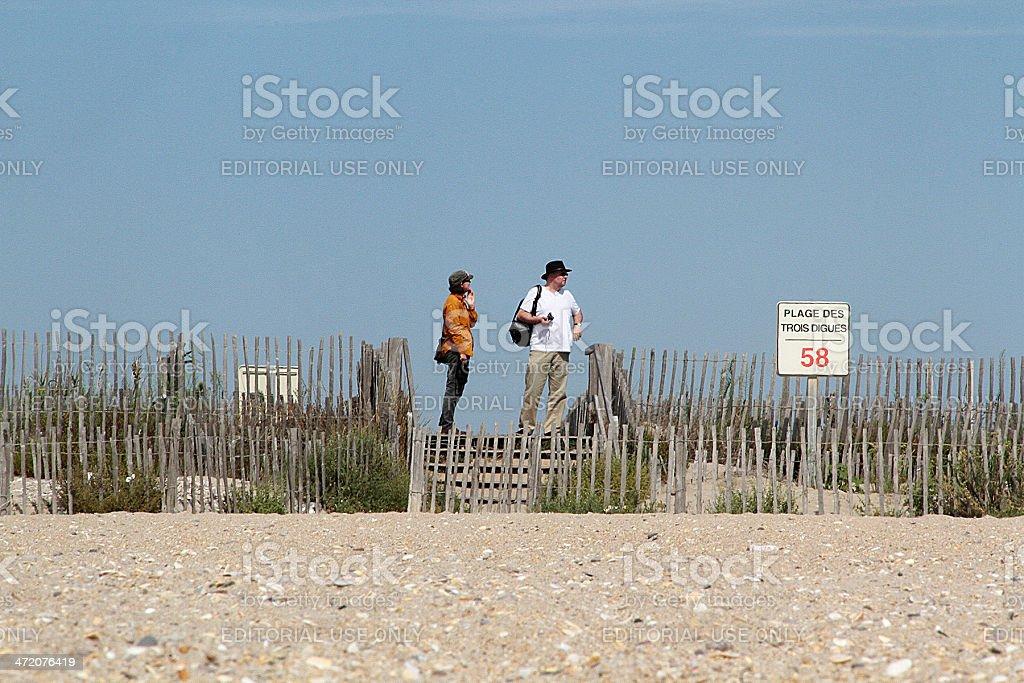 Coppia sulla Sète, Francia foto stock royalty-free