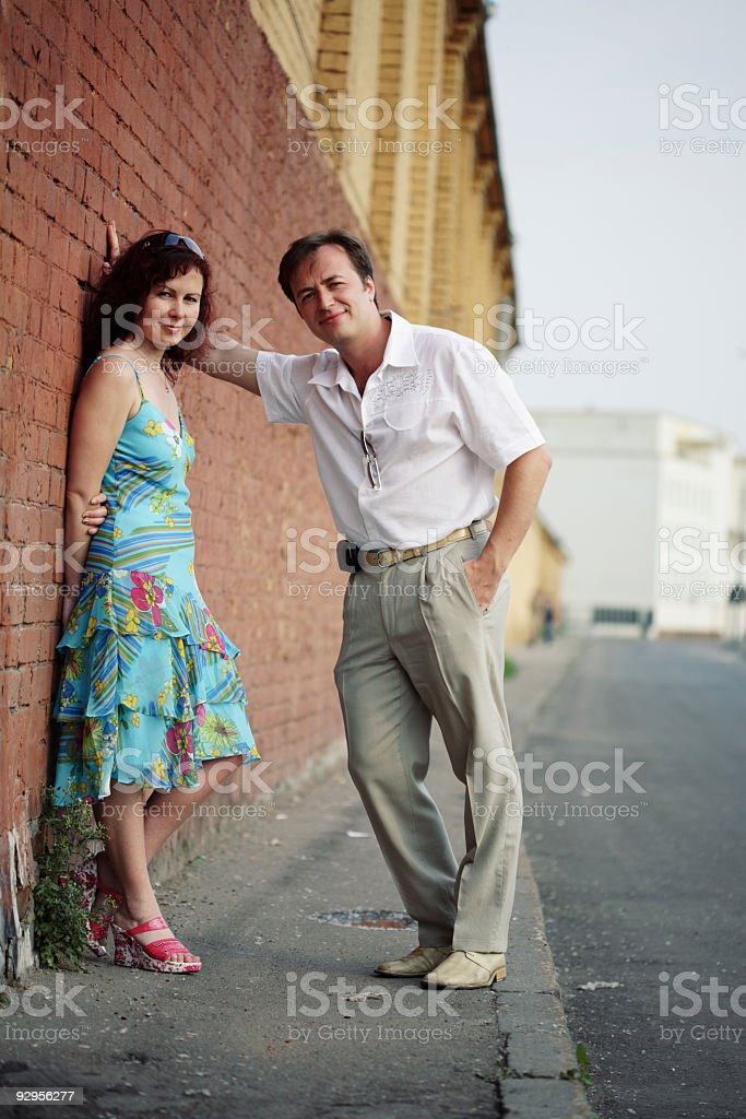 couple on street royalty-free stock photo