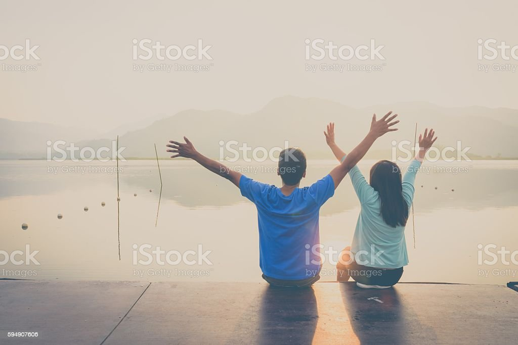 Couple on sweet time. royalty-free stock photo