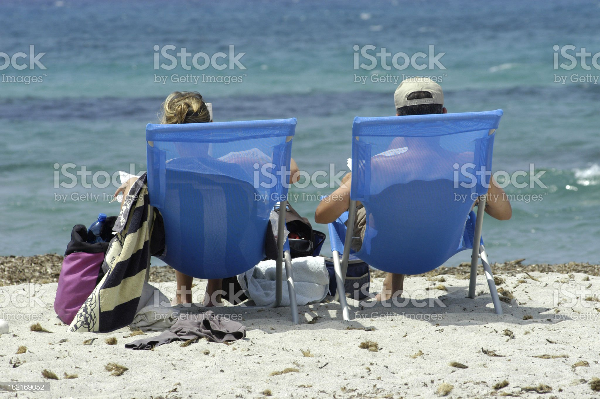 couple on the beach royalty-free stock photo