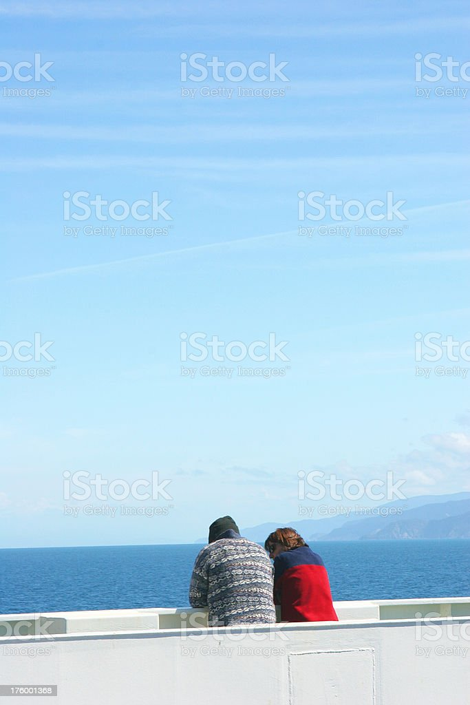 Couple on the Boat stock photo