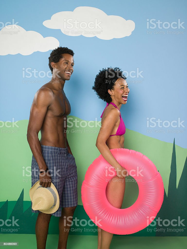 Couple on vacation royalty-free stock photo
