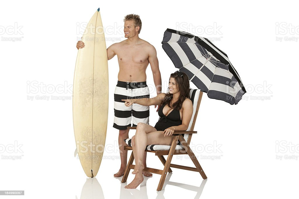 Couple on vacations royalty-free stock photo