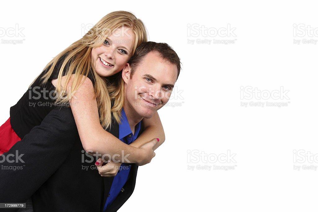 Couple on White stock photo