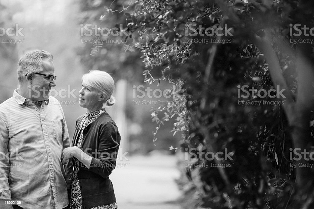 couple out for a walk royalty-free stock photo