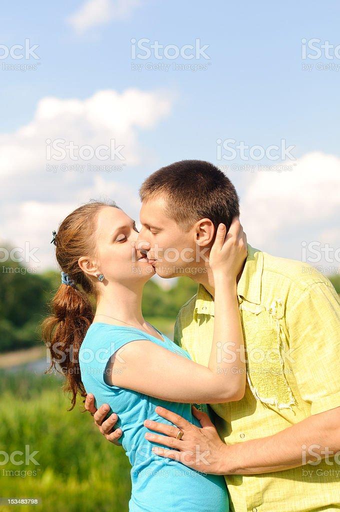 couple outdoors royalty-free stock photo