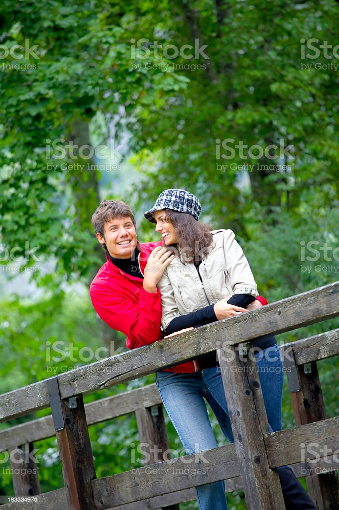 couple outdoors stock photo