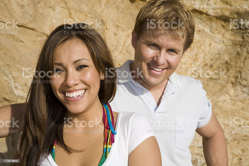 Couple Portrait by Cliff 2 royalty-free stock photo