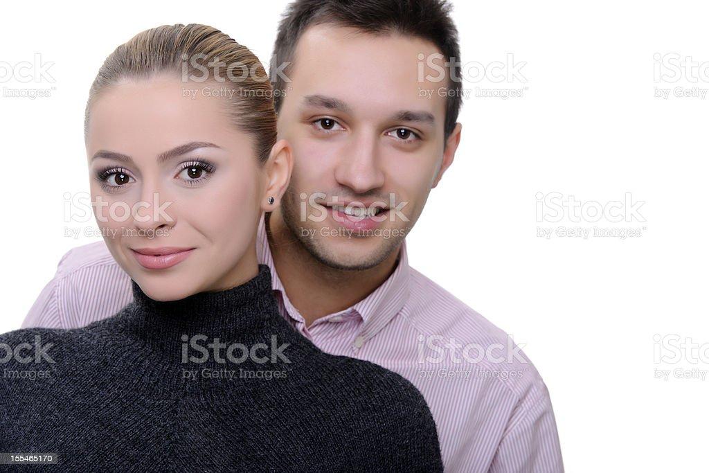 portrait de couple photo libre de droits