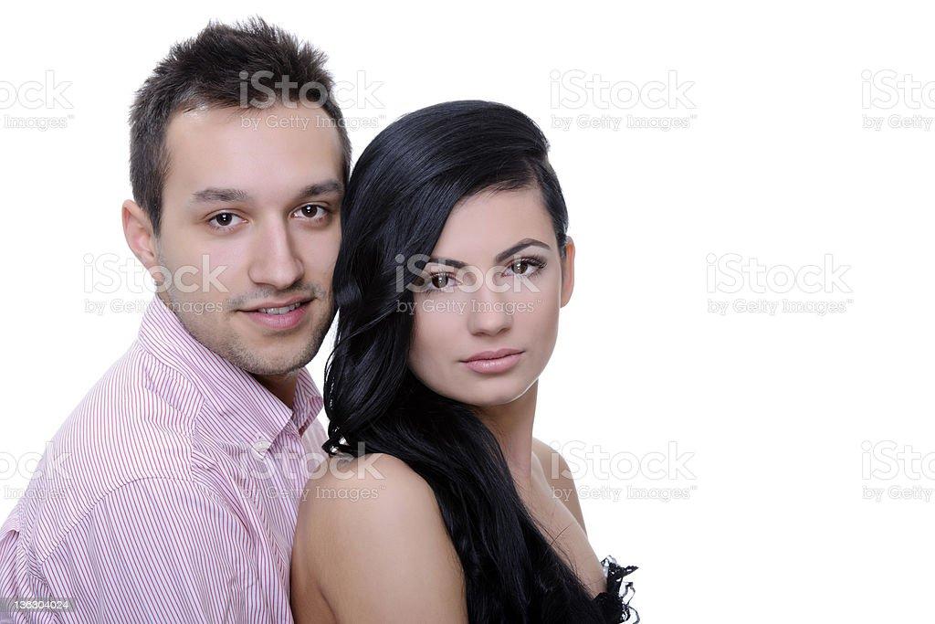 couple posant photo libre de droits