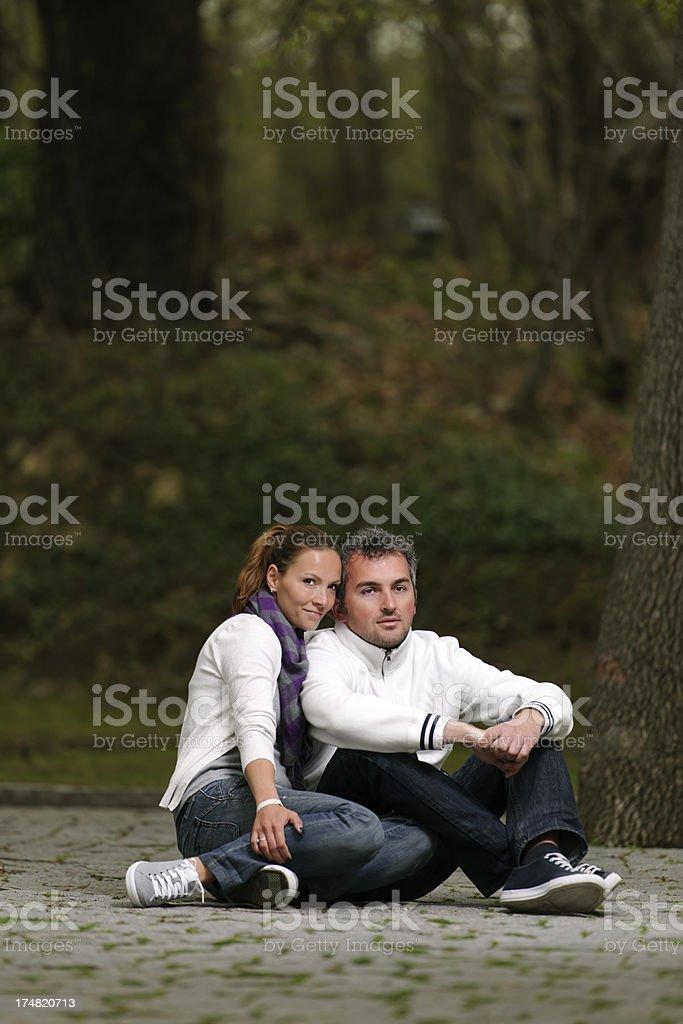 couple posing royalty-free stock photo