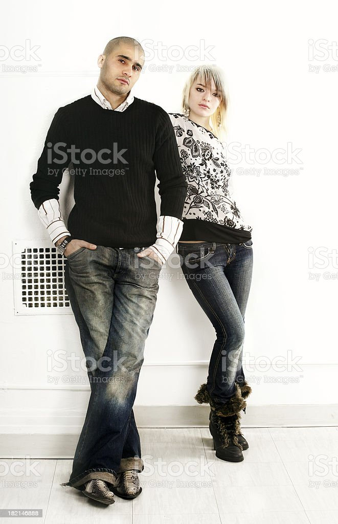Couple posing royalty-free stock photo
