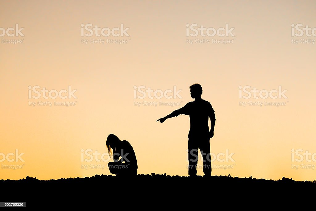 Couple relationship difficulty stock photo