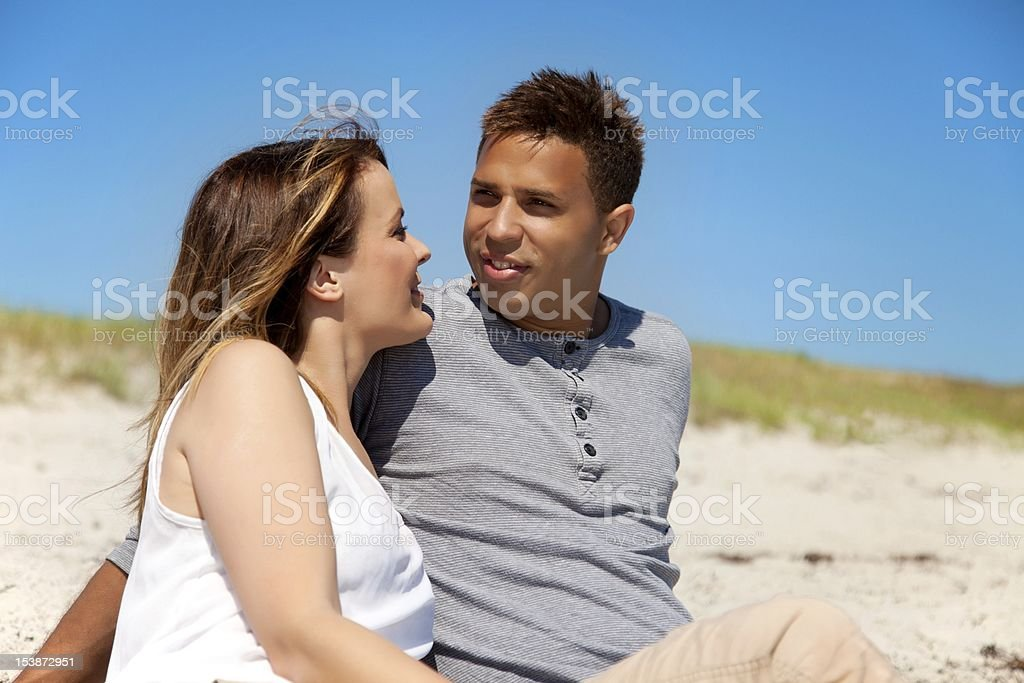 Couple Relaxing and Enjoying Their Summer Vacation stock photo