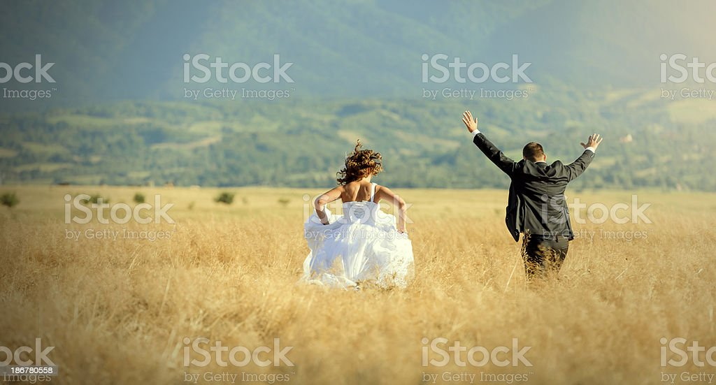 couple running royalty-free stock photo