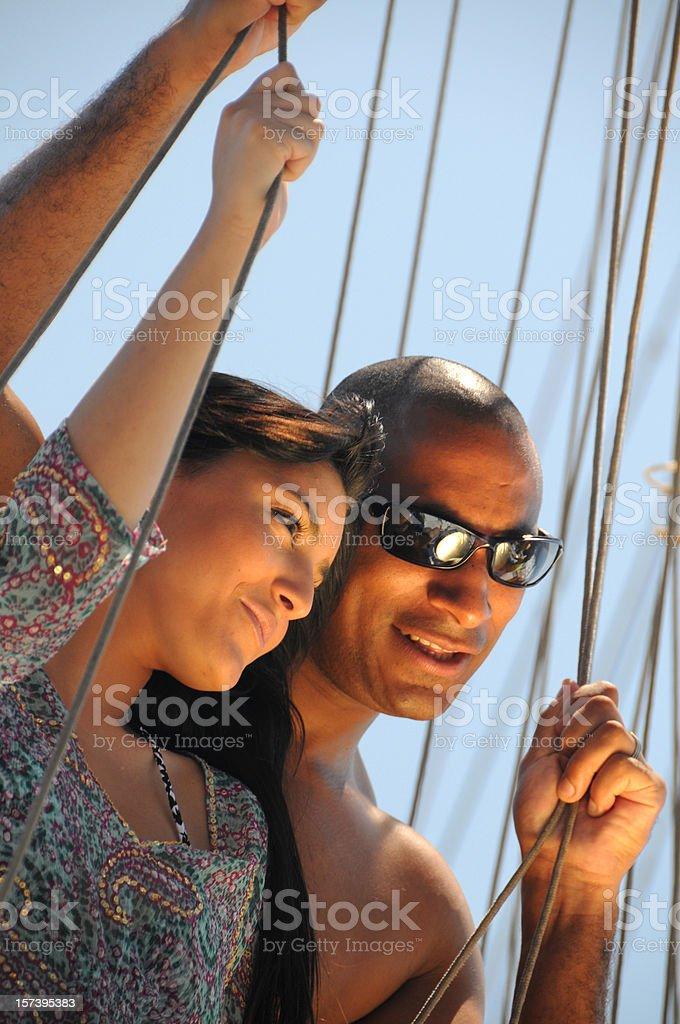 Couple Sailing stock photo