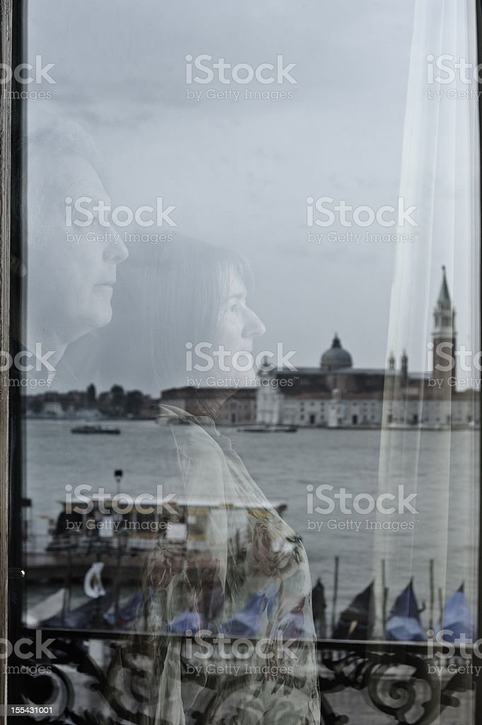 Couple see Venice together royalty-free stock photo