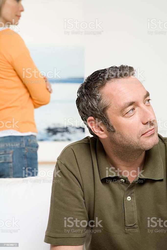 Couple separate from each other stock photo