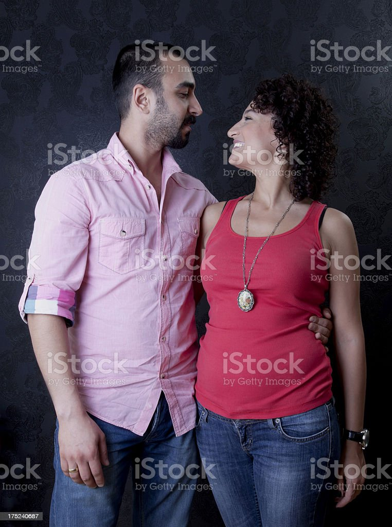 Couple Series on black wallpaper royalty-free stock photo