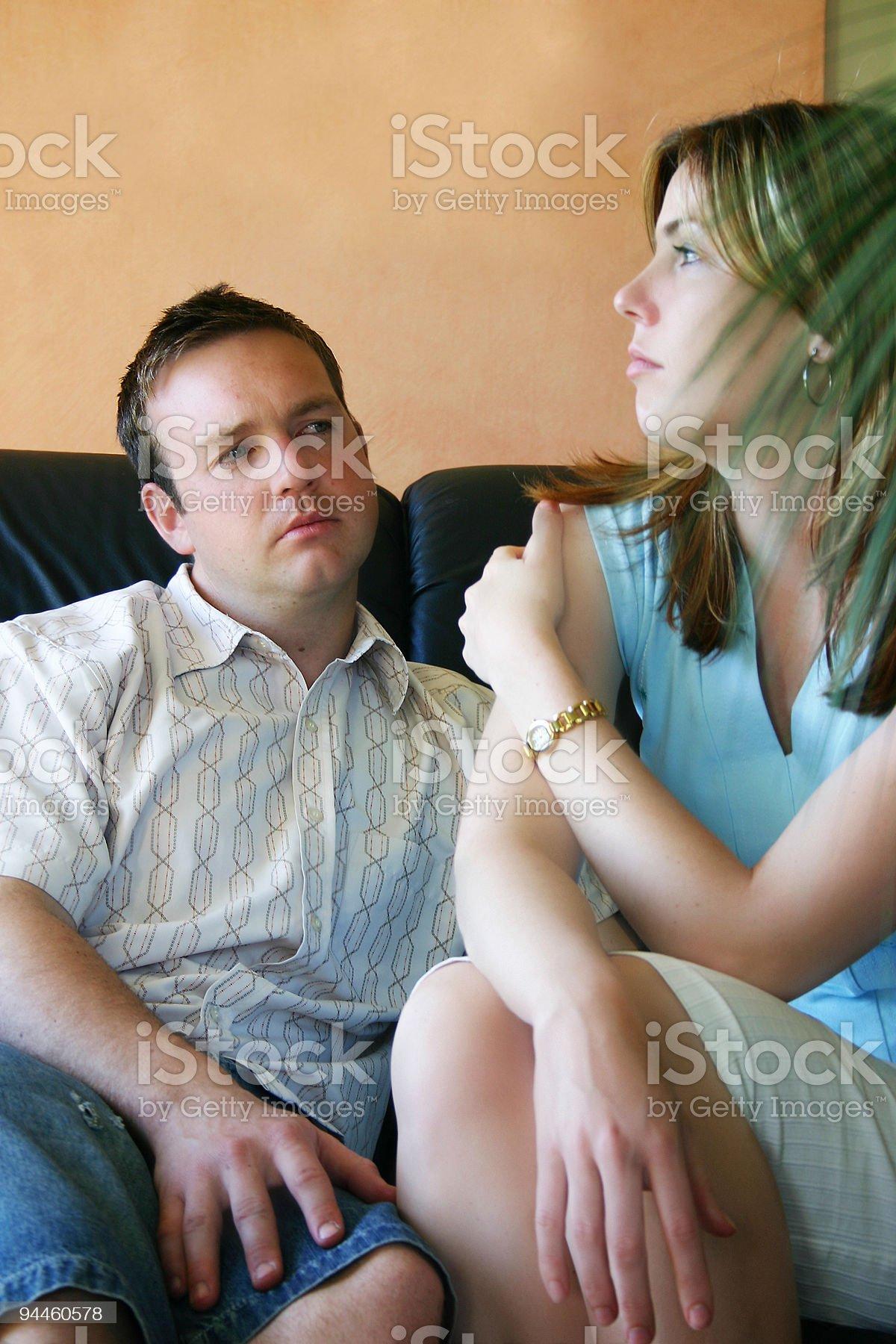Couple Series: Silence royalty-free stock photo