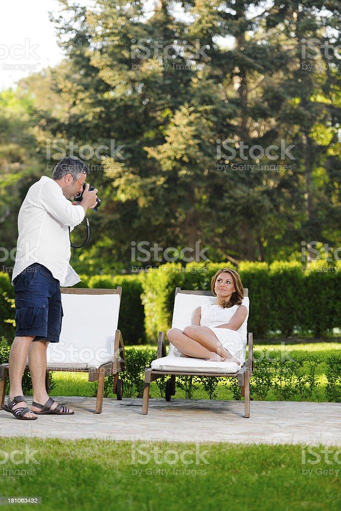 couple shooting royalty-free stock photo