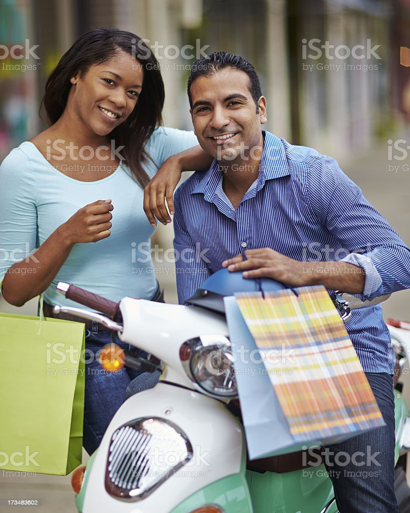 Couple Shopping royalty-free stock photo