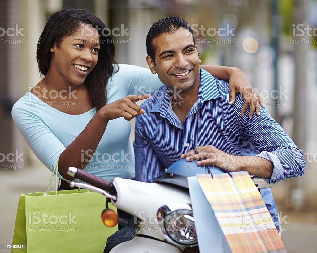 Couple Shopping royalty-free stock photo