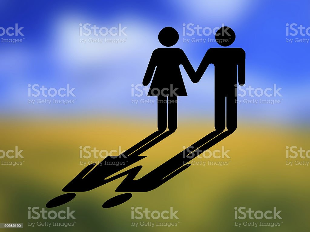 Couple, sign mode royalty-free stock photo