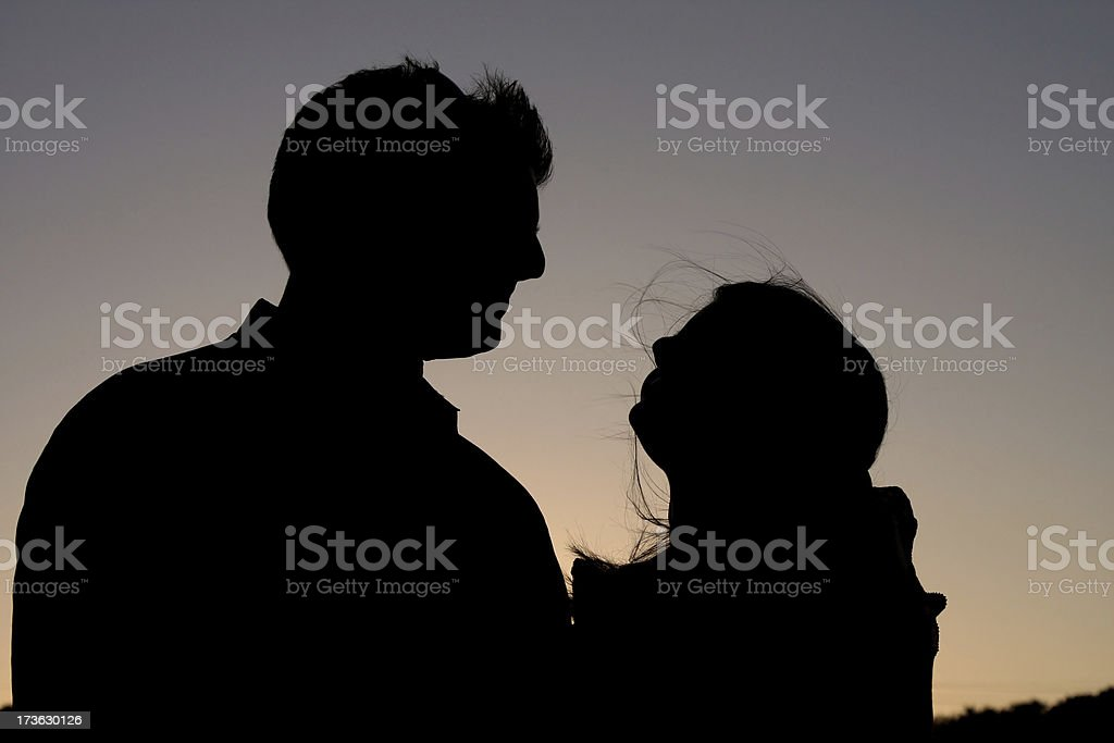 Couple Silhouette royalty-free stock photo