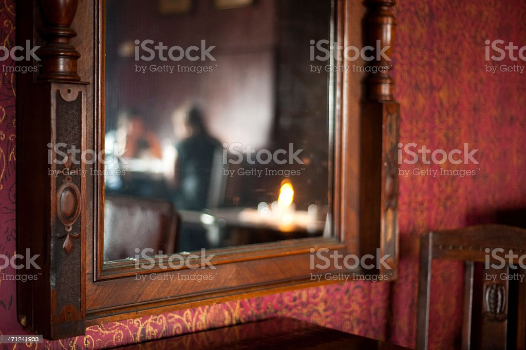 Couple sitting in Coffe shop royalty-free stock photo