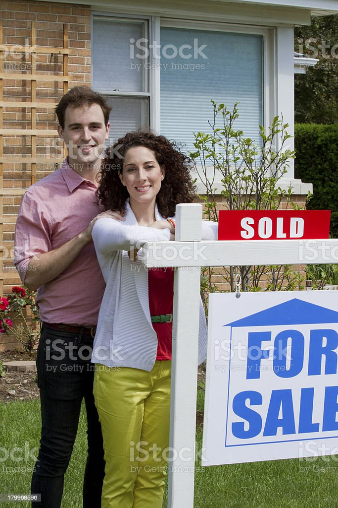 Couple sold home royalty-free stock photo