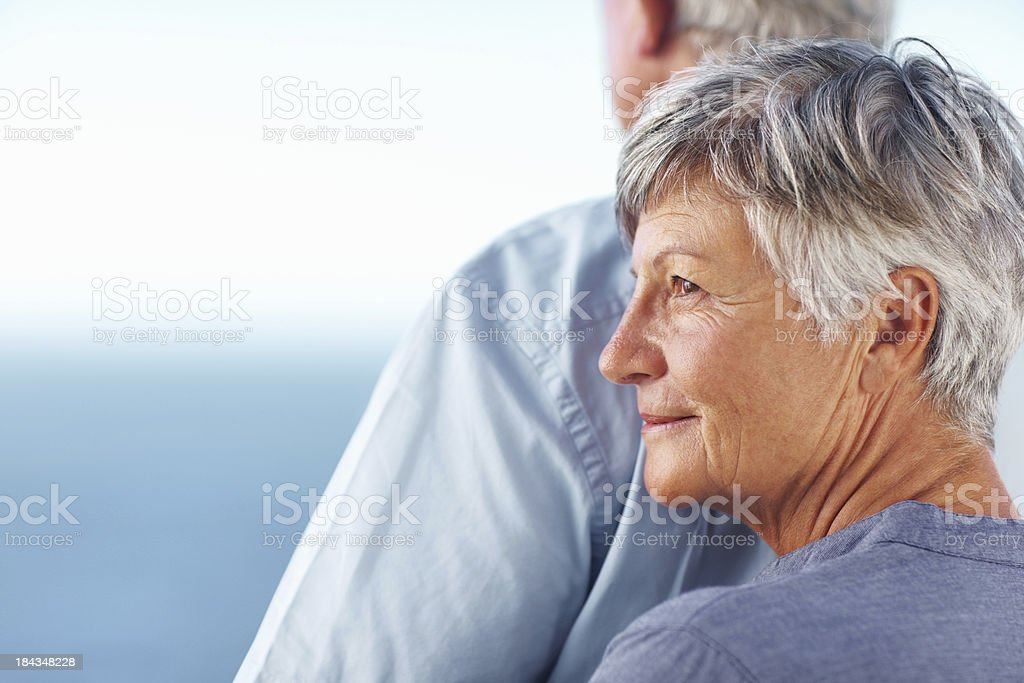 Couple spending time outdoors royalty-free stock photo
