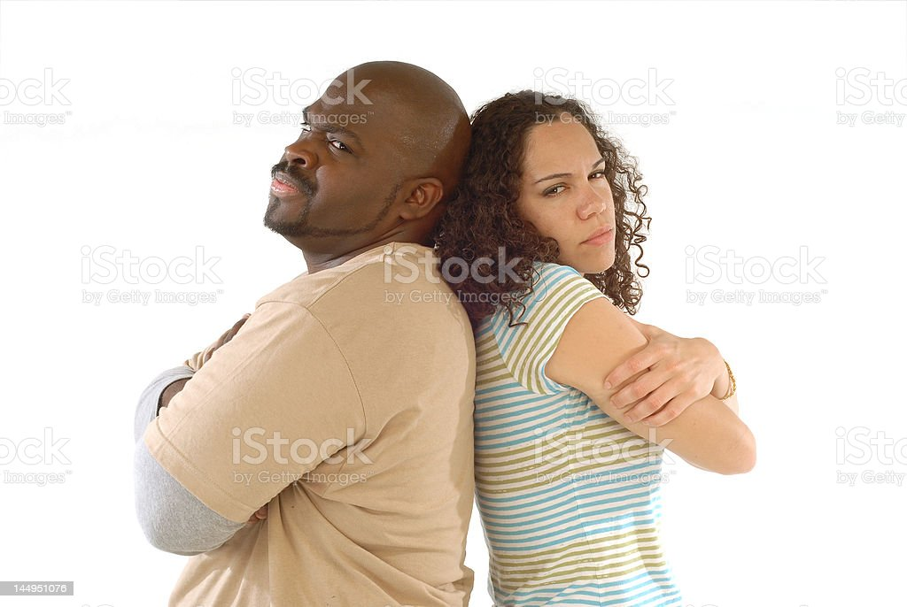 Couple stress royalty-free stock photo