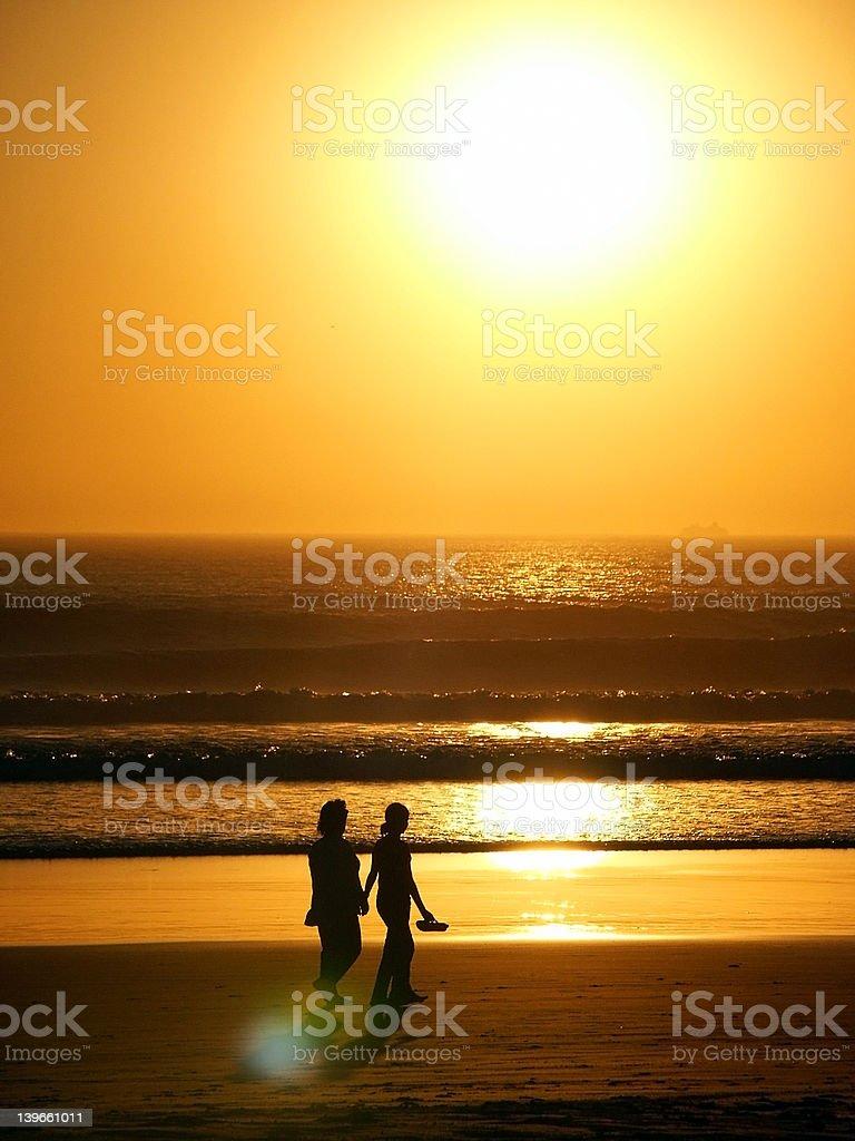 Couple Sunset royalty-free stock photo