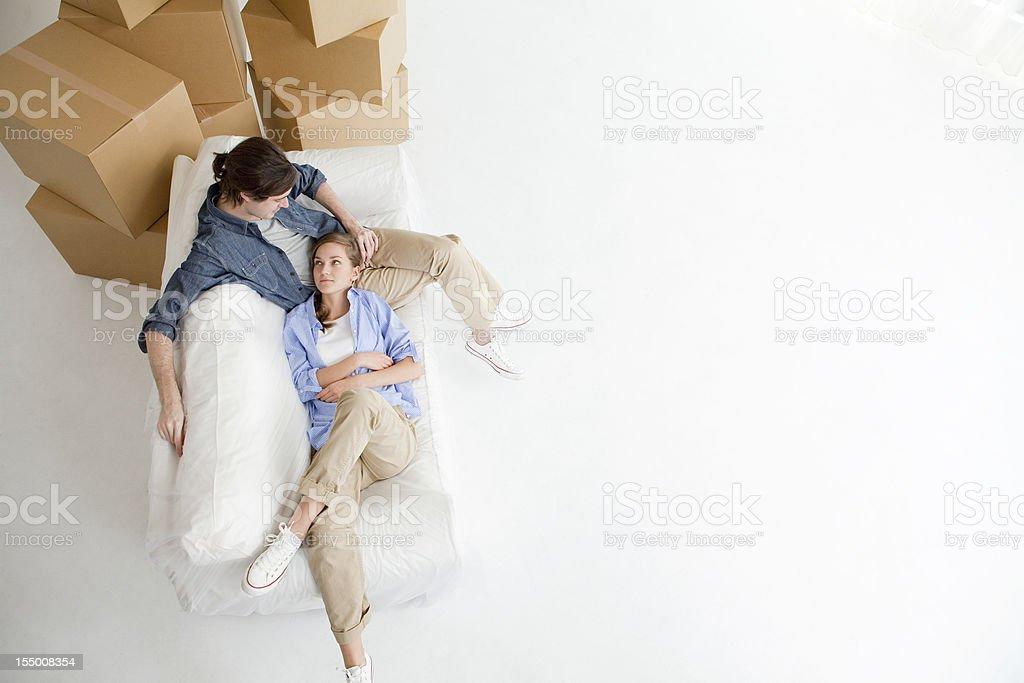 Couple taking a break royalty-free stock photo