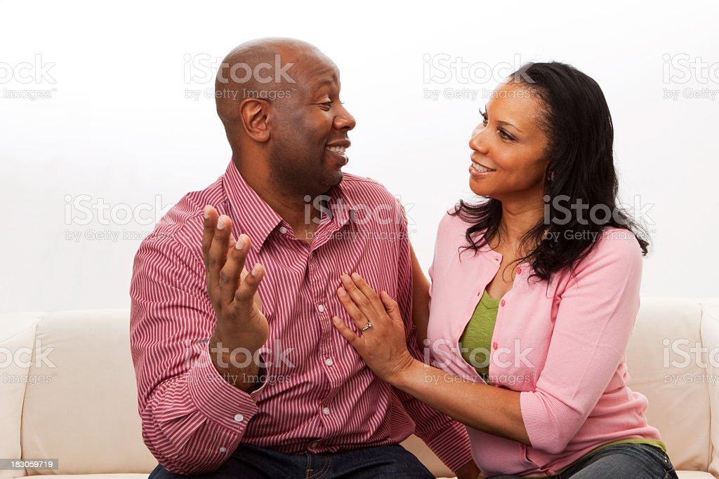 Couple Talking royalty-free stock photo