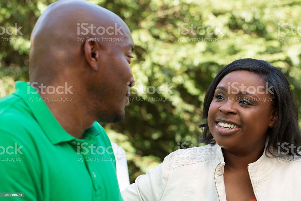 Couple Talking stock photo