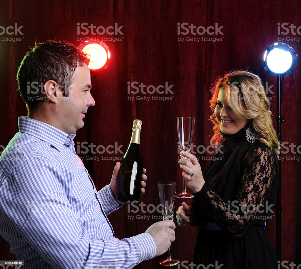 couple toast royalty-free stock photo
