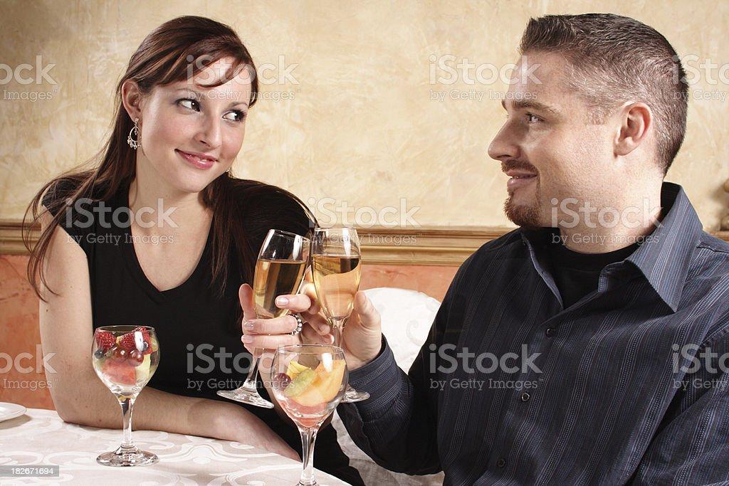 Couple toasting royalty-free stock photo