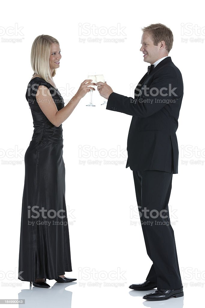 Couple toasting with wineglasses royalty-free stock photo