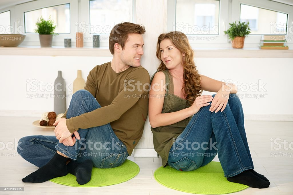 Couple together at home royalty-free stock photo